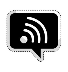 Speech bubble with wifi signal icon vector