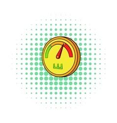 Speedometer or indicator icon comics style vector