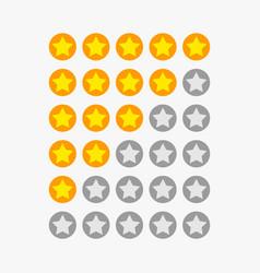 Star ranking symbols vector