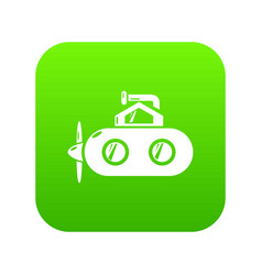 Submarine periscope icon green vector