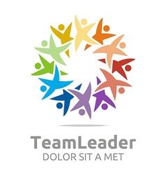 Teamleader guidance human colorful design vector