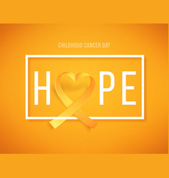 Template poster hope for cancer awareness month vector