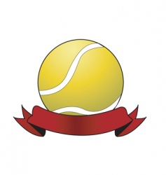 tennis ball award vector image