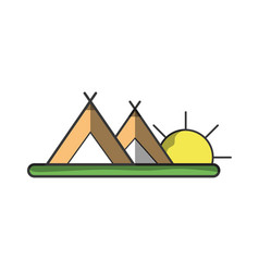 tents in nature vector image