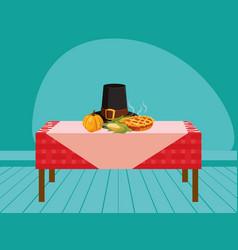 thanksgiving celebration design vector image