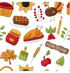 Thanksgiving seamless pattern background vector