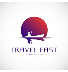 Travel East Concept Symbol Icon or Logo Template vector image