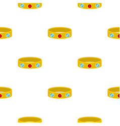 Vintage gold bangle pattern seamless vector