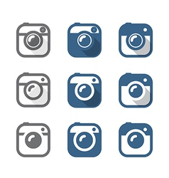 Vintage photo camera icons clipart Minimalism conc vector image