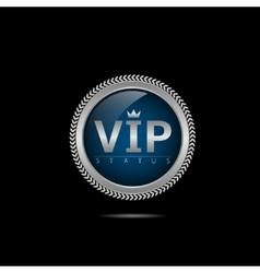 VIP silver label vector image