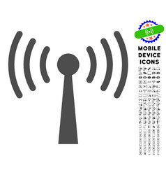 Wi-fi station icon with set vector