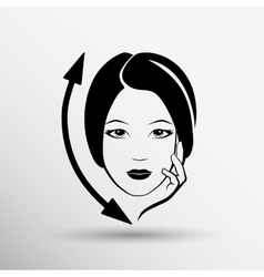 Woman face fashion girl beauty vector image