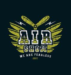 air show emblem vector image
