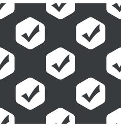 Black hexagon tick mark pattern vector image