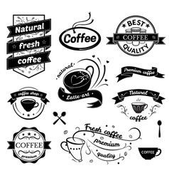 Coffee signs set vector image vector image