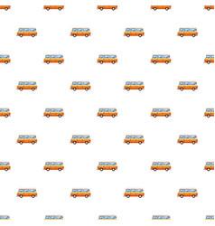 mini bus pattern vector image vector image