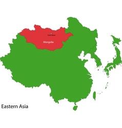 Mongolia map vector image vector image