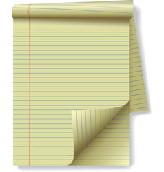 yellow legal pad vector image vector image