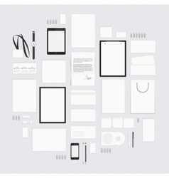 Blank corporate style elements big set vector image vector image