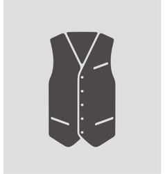 Business waistcoat on background vector image vector image