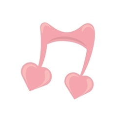 cute musical note heart love symbol vector image