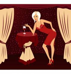 girl with cocktail vector image