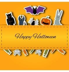 Happy Halloween background Flat vector image vector image