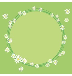 Lovely frame with flowers of camomile vector image