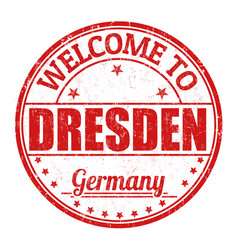 Welcome to dresden stamp vector