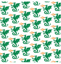background pattern with dragons vector image
