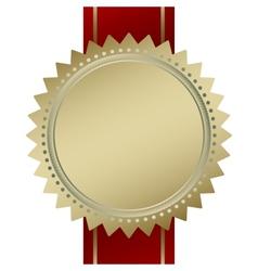 Blank guarantee vector image vector image