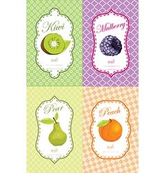 Fruit retail sticker vector image vector image