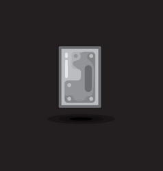 icon computer hard drive hdd ssd disk vector image