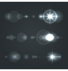 Lens Flare Set sun with Transparent Background vector image vector image