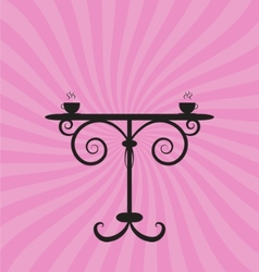 retro table with pink background vector image vector image