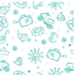travel theme seamless pattern vector image