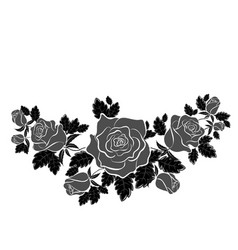 black rose in the style of flat vector image
