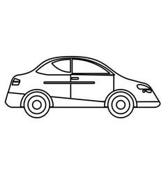 car sedan vehicle transport outline vector image vector image