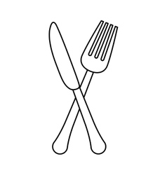 figure knife and fork icon design vector image vector image
