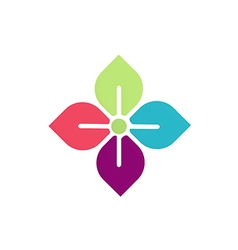 flower geometry beauty logo vector image vector image