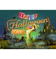 Happy Halloween party zombie background vector image vector image