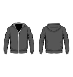 Men s hoodie shirts template front and back vector image