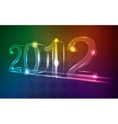 new year 2012 neon card vector image vector image