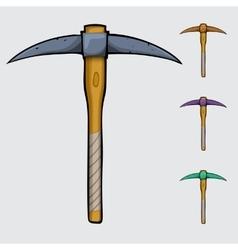 pickaxe cartoon isolated vector image vector image