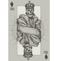 Skeleton King vector image