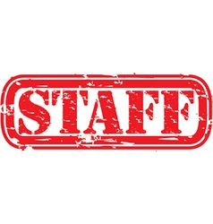 Staff stamp vector image vector image