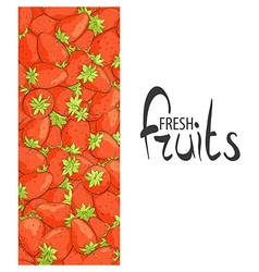 strawberries on a white vector image vector image