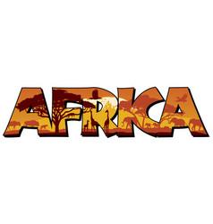 Africa word mark logo vector