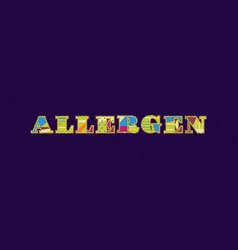 Allergen concept word art vector