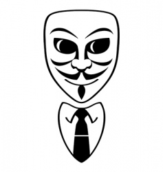 anonymous symbol vector image
